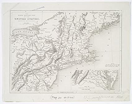 Amazon.com: Historic 1840 Map | The North Eastern Part of The United ...