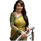 DivyaEmporio Women's India Bazaar Ethnic Traditional Saree with Unstitched Blouse