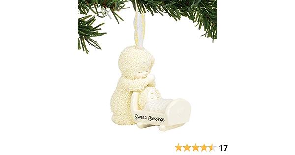 2.75 Department 56 Snowbabies Bisque Porcelain Sweet Blessings Ornament