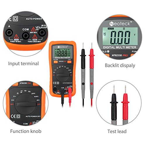 Neoteck Pocket Digital Multimeter 8233D PRO