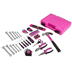 8. The Original Pink Box Household Tool Set (94 Pieces)