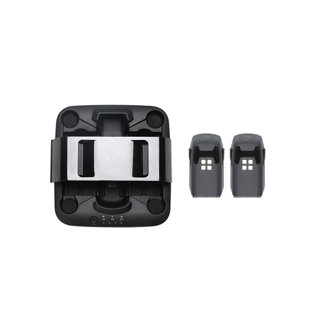 MuLong DJI Spark Drone Portable Power Pack With Spark Charging Station and 2Pcs DJI Spark Intelligent Flight Batteries Parts - DJI Part#28 with Mulong Sticker