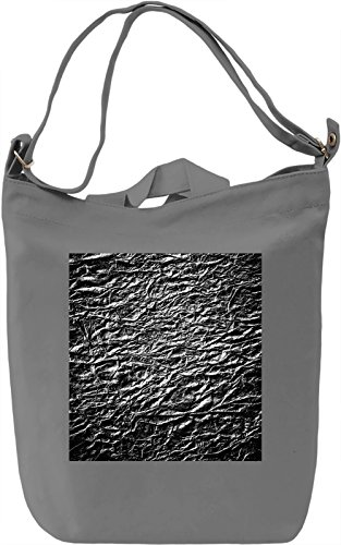 Black Print Borsa Giornaliera Canvas Canvas Day Bag| 100% Premium Cotton Canvas| DTG Printing|
