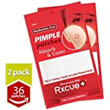 Rxcue Korean INVISIBLE Acne Blackhead Pimple Master Patches | 2, 5 AND 10 Pack | Super Thin and Medication Free | 12 mm size (2 Pack - 36 Pieces)