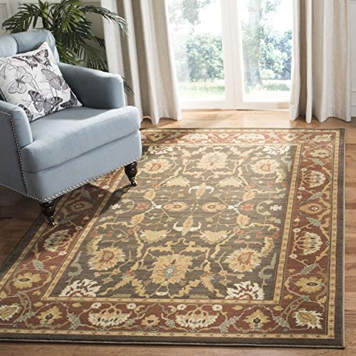 Safavieh Heirloom Collection HLM1666-2537 Traditional Vintage Brown and Rust Area Rug 5 3 x 7 6