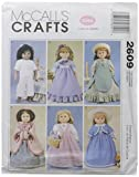"McCall's Patterns M2609 Clothes For 18"" Doll, One Size Only"