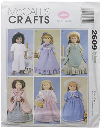 """Patterns M2609 Clothes For 18"""" Doll, One Size Only"""