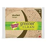 Scotch-Brite Greener Clean Absorbent Sponge, 4-Count (Pack of 6)