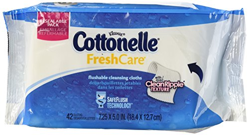 Cottonelle Fresh Care Flushable Moist Wipes Refills 42-count