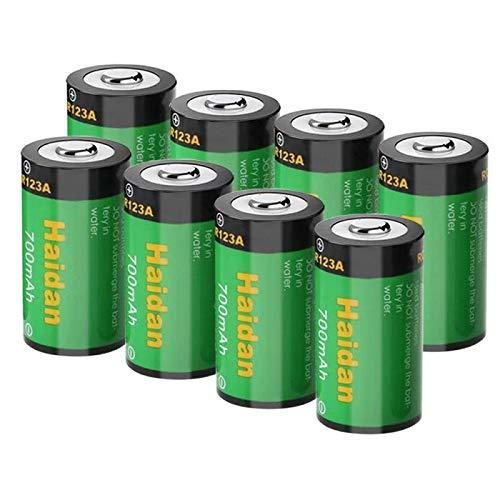 Haidan 8パック 700mAH RCR123A 充電式バッテリー 3.7V リチウムイオンバッテリー Arlo用 (VMC3030/3200/3330/3430/3530) カメラバッテリー   B07L26Q9V7