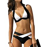 Swimsuit Sexy Swimwear Women Swim Beach Wear Print Bandage Swimsuit (L)