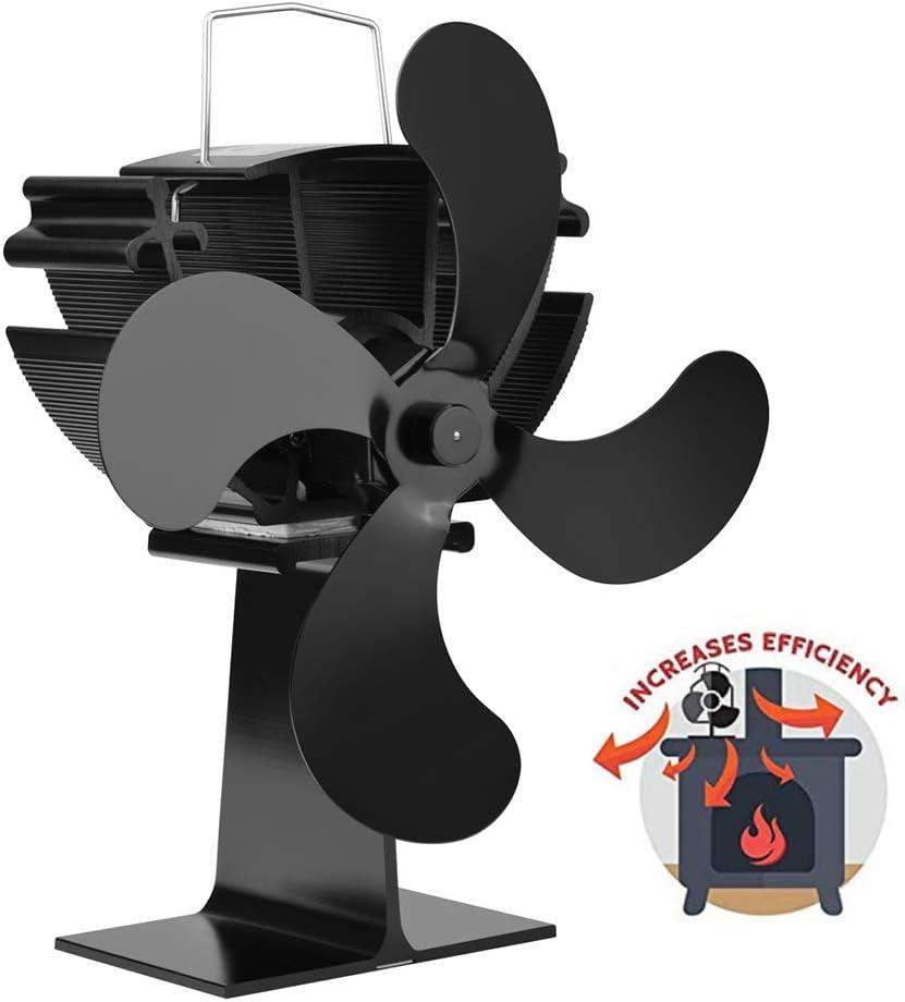 AMZ BCS Chimenea Calentador Ventilador Dinámico Ventilador ...