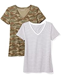2aff2567e Women's 2-Pack Classic-Fit Short-Sleeve V-Neck T-Shirt