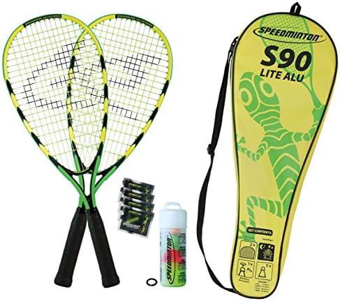 Speedminton Badmintonschläger Set S90 in Fulllcover, Keine Farbe