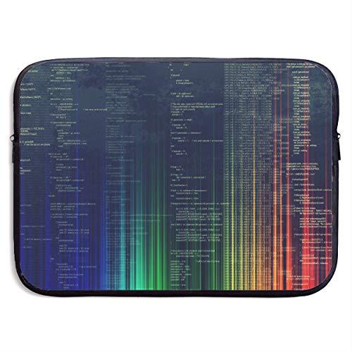 Fonsisi 15 Inch Laptop Sleeve Computer Case Programming Soft Neoprene Laptop Bag MacBook Air/Pro Bag