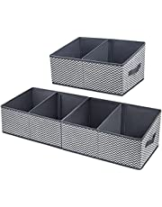 DIMJ Closet Baskets, 3 Packs Trapezoid Storage Bins, Foldable Fabric Baskets for Clothes, Baby Toiletry, Toys, Towel, DVD, Book…