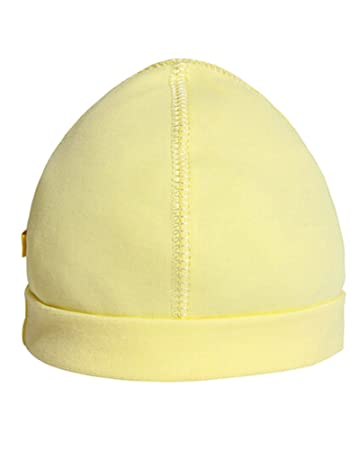 Amazon.com  Summer Baby Hats Caps Infant Dome Cotton Hats Yellow  Baby d1f39216f44