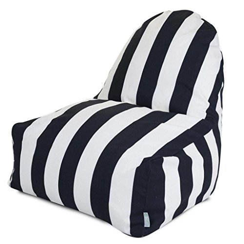 Majestic Home Goods Kick-It Chair, Vertical Stripe, Yellow by Majestic Home Goods (Image #1)