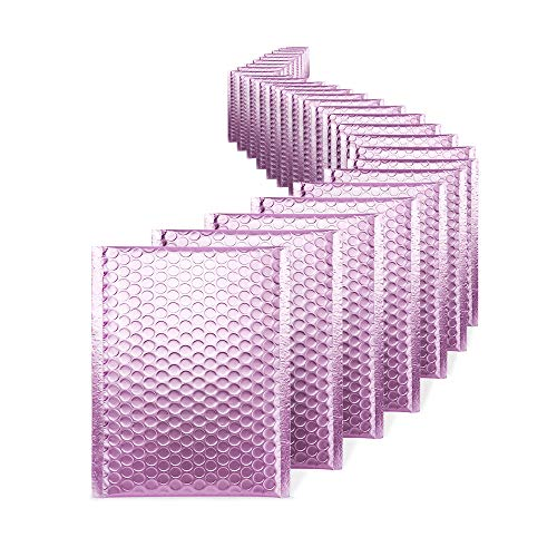 (Fu Global #0 Lilac Purple Metallic Bubble Mailers 6x10 Self Seal CD Padded Envelopes Pack of 25 (Lilac Purple))