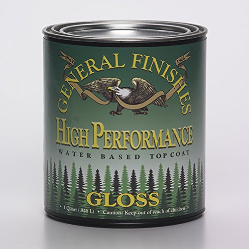 General Finishes QTHG High Performance Water Based Topcoat, 1 Quart, Gloss