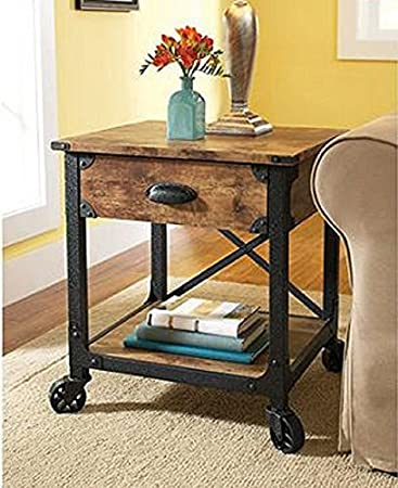better homes and gardens rustic country side table antiqued blackpine by better homes. Interior Design Ideas. Home Design Ideas