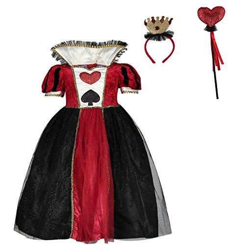 Queen (Queen Of Hearts Costume Kids Alice In Wonderland)