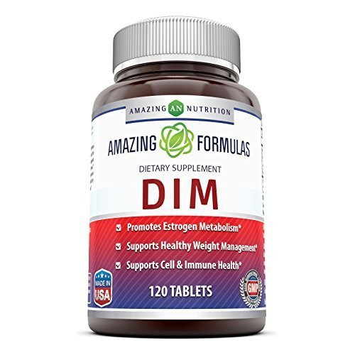 Amazing Formulas DIM Supplement – DIM (Diindolylmethane) Supports Healthy Estrogen Levels for Continued Good Health, Weight Management – Each Tablet Has 100 Mg of DIM (Diindolylmethane) Along Vitamin