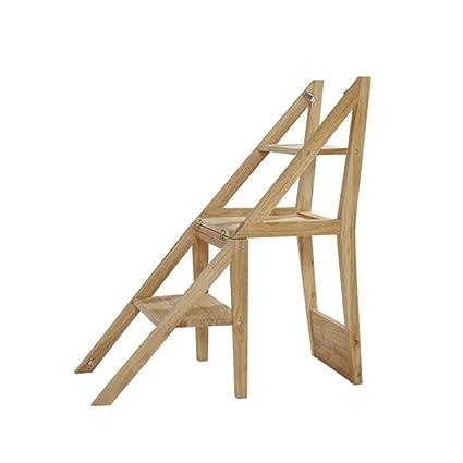 Silla plegable 4 Escalera de tijera Escalera Taburete de ...