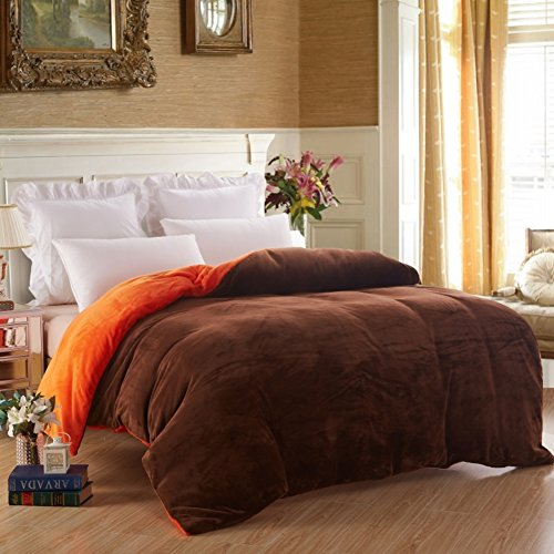 Euro Trim Series (Modern Minimalist style Solid Color Thickened Double layer Nylon Quilt Cover-R)