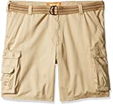 Lee Men's Big and Tall New Belted Wyoming Cargo Short, Buff, 46W