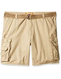 Lee Men's Big and Tall New Dungarees Belted Wyoming Cargo Short
