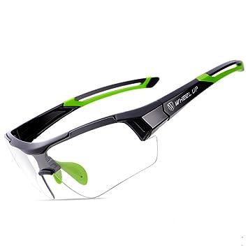 Wheelup Gafas de Sol Fotocromáticas de la Cambio de Color de la Anti-UV de la Descoloración(Verde): Amazon.es: Deportes y aire libre