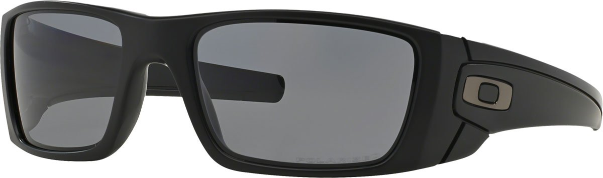 Oakley Men's OO9096 Fuel Cell Rectangular Sunglasses, Matte Black/Grey Polarized, 60 mm by Oakley