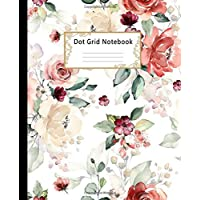 Dot grid Notebook: Dotted Paper Journal: Pretty Flower Roses for Graphing Pad, Design Book, Work Book, Planner, Dotted Notebook, Bullet Journal, Sketch Book, Math Book