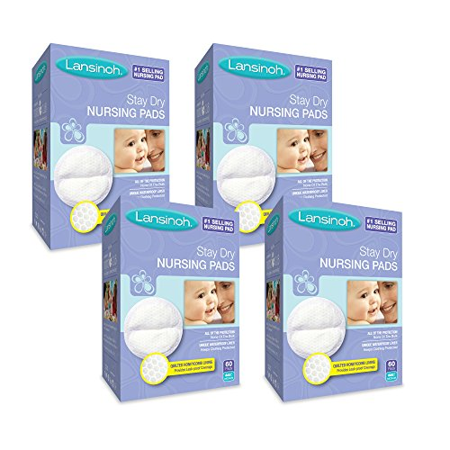 Lansinoh Stay Dry Disposable Nursing Pads, 60 Count (Pack of 4) ()