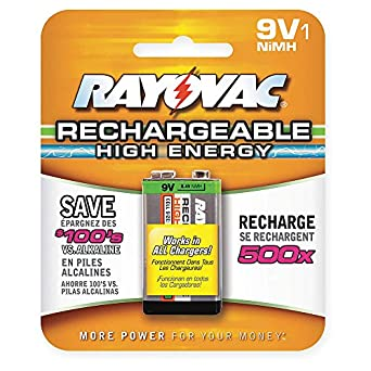 Precharged Recharg. Battery, 9V, NiMh: Amazon.com ...