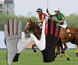 skuleer (TM) Durable guantes de equitación Ecuestre caballo equipo resistente al viento equitación accesorios
