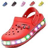 MONEM EOUGGZL Kids Boys Girls LED Flash Light up Summer Beach Shoes Walking Slippers (Toddler/Little Kid)
