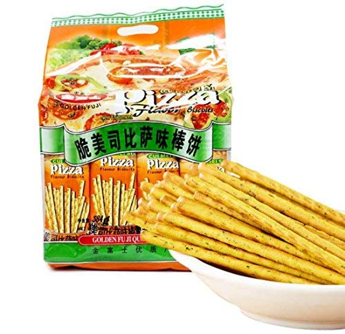 (Helen Ou@ Delicious Snacks for Kids Pizza Flavor Stick Biscuits 384g/13.5oz)
