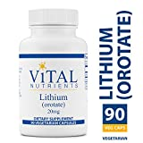 Vital Nutrients – Lithium (Orotate) 20 mg – Supports Mental and Behavioral Health – Gluten Free – 90 Capsules Review