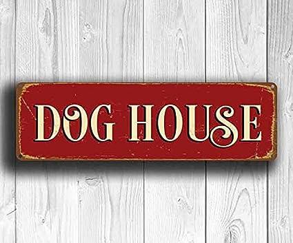 Amazon Uniquepig Dog House Metal Signs Vintage Home Decor Door