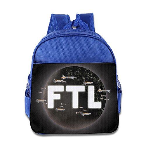 XJBD Custom Superb FTL Faster Than Light Kids Children School Bag Backpack For 1-6 Years Old RoyalBlue