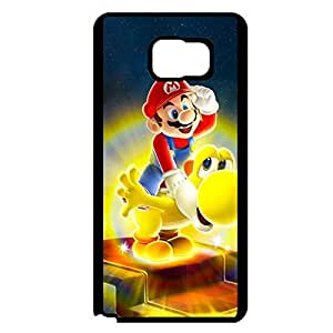 Cover Shell Cartoon Super Mario Phone Case for Samsung Galaxy Note 5 Classical Graceful Super Mario Comics Pattern Back Cover