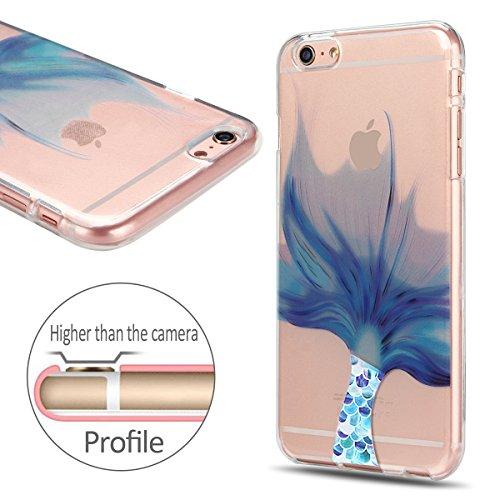 iphone 6 / 6s Hülle, E-Lush Blau Traumfänger Muster TPU Hülle für iphone 6 / 6s (4.7 Zoll) [Kratzfeste, Scratch-Resistant] Weiche Flexible Silikon Handyhülle Clear Transparent Tasche Ultra Dünne Schut