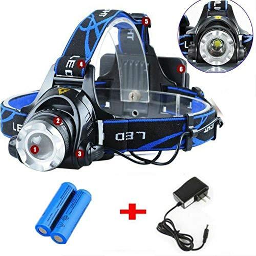 Mbtaua_Sports Rechargeable T6 Tactical Headlamp Head light LED