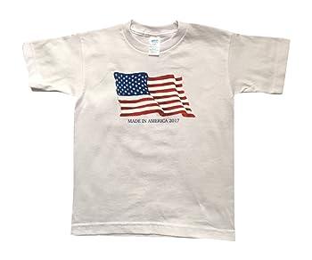 Made in America Boys Patriotic Flag 2017 Shirt