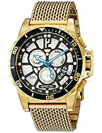 Invicta Men's 'Corduba' Quartz Stainless Steel Casual Watch, Color:Gold-Toned (Model: 23491)