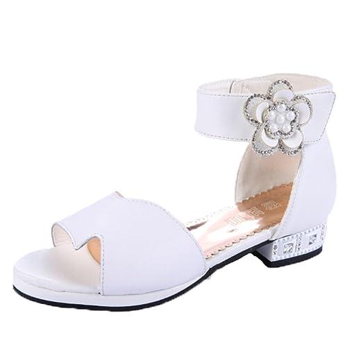 f8cfe23cdf440 OPSUN Sandales à Bride Enfants Filles Chaussure Cérémonie Ballerines à Bout  Ouvert Mariage Escarpin Plat Babies  Amazon.fr  Chaussures et Sacs