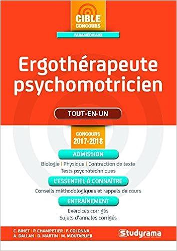 Ergotherapeute-Psychomotricien 2017/2018 Concours paramédicaux: Amazon.es: Colonna Florence: Libros en idiomas extranjeros