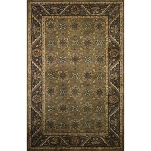 Fashion Weavers Hand-Tufted Avalon Wool Rug (5' x 8') - 5' x 8' Fern Brown, Khaki, Natural